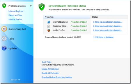 Как защитить компьютер с помощью утилиты SpywareBlaster?