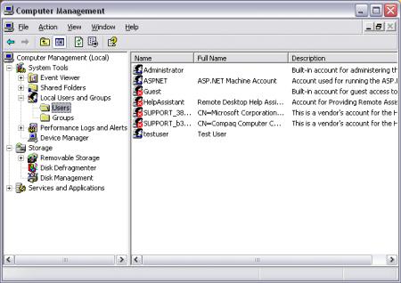 Как создать локальный профиль пользователя на платформе Windows Server 2003?