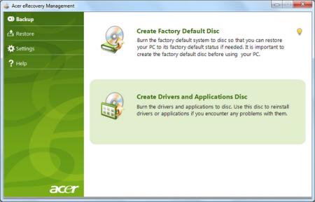 Как работает приложение Acer eRecovery?