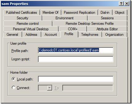 Как создать перемещаемый профиль пользователя на платформе Windows Server 2003?