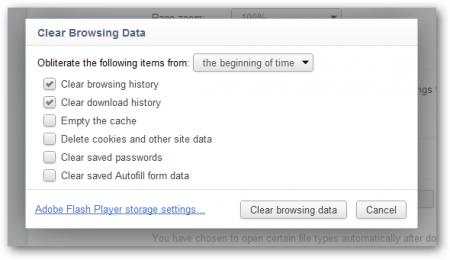 Как очистить историю открытия сайтов в браузерах Chrome, Firefox и IE9?