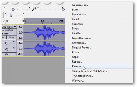 Как записать голос и прослушать его в обратном направлении?
