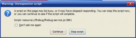 Как исправить ошибку выполнения скрипта в браузере Firefox?