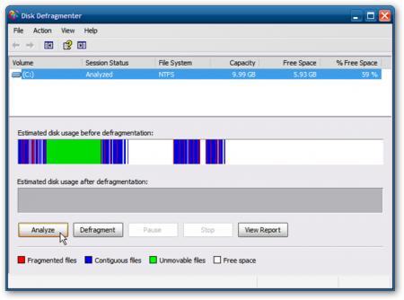 Чем отличается профиль дефрагментации в Windows XP от профиля в Windows 7?