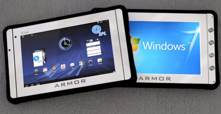 Планшетны ARMOR X7et, X7ad и X12rb   соответствуют требованиям IP65