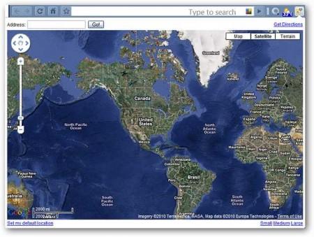 Просмотр карты со спутника через Google Chrome