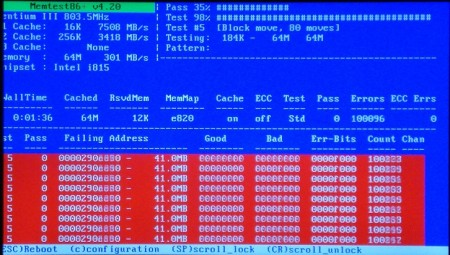 Ошибка оперативной памяти