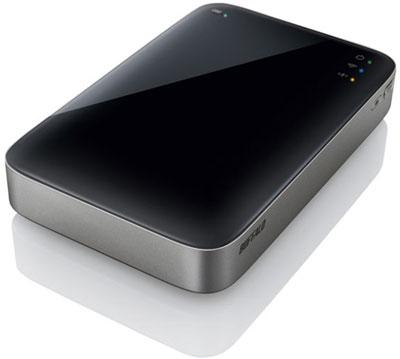Buffalo запускают в производство HDD с аккумулятором и Wi Fi