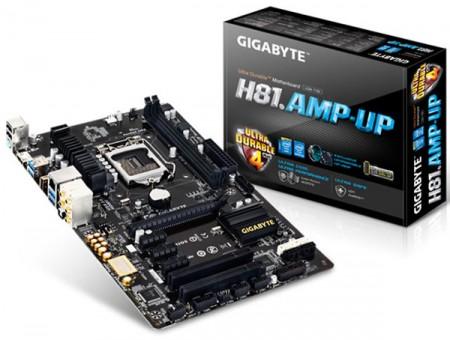 Gigabyte GA H81.AMP UP   материнская плата с качественным 8 канальным звуком