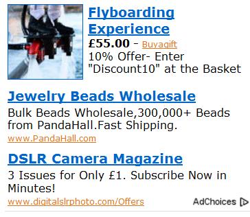 Google тестирует картинки в контектных объявлениях AdSense
