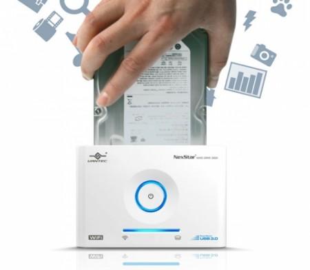 Wi Fi док станция для жестких дисков на SATA