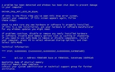 Как исправить синий экран смерти, простые методы