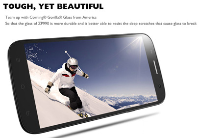 Zopo ZP990   новый топовый смартфон с 4 ядерным процессором на 1,5 ГГц