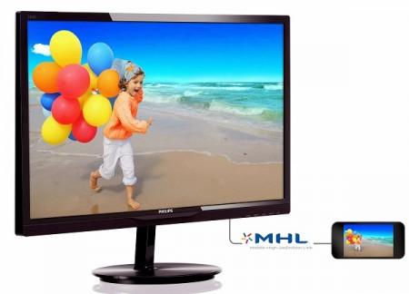 Philips 284E5QHAD   28 дюймовый монитор с MVA матрицей и разрешением Full HD