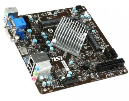 MSI J1800i с 2 ядерным процессором Intel Celeron